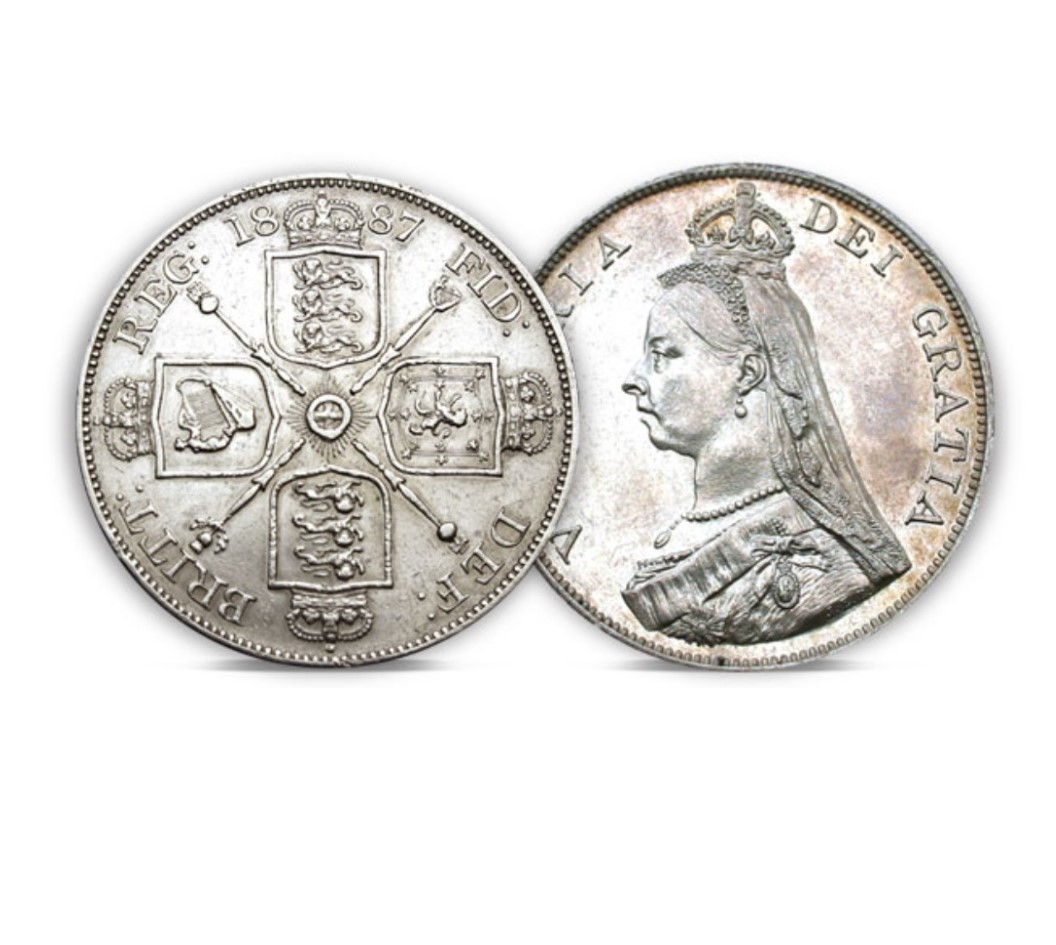 The Queen Victoria Silver Double Florin of 1887-1890
