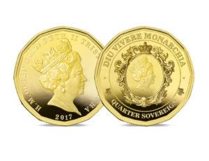 The 2017 Twelve-sided Gold Quarter Sovereign