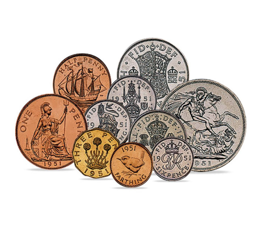King George VI Proof Quality Coin Set 1951