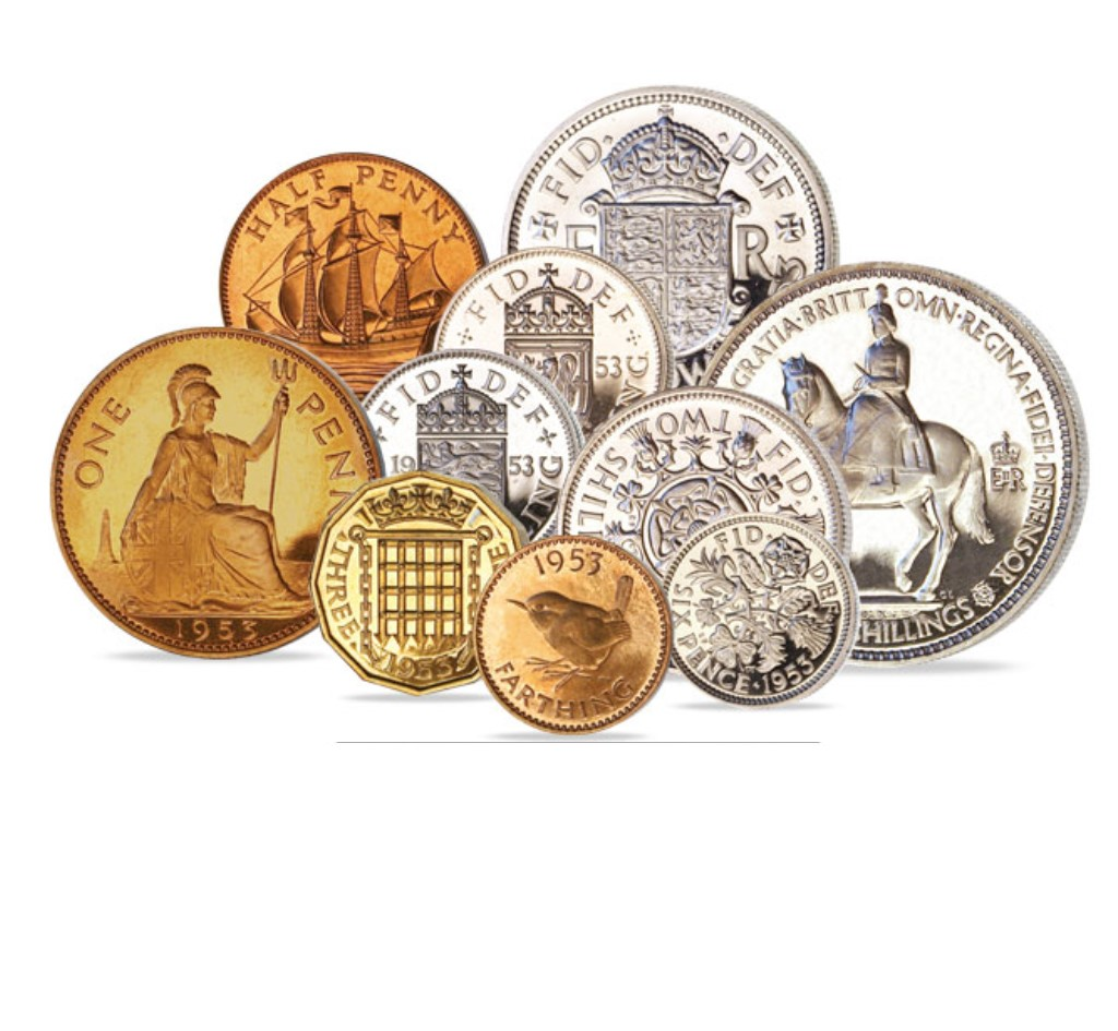 The Queen Elizabeth II Proof Quality Coin Set of 1953
