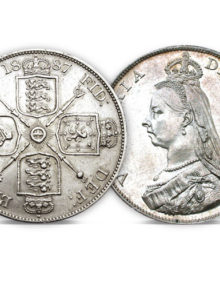 Queen Victoria Silver Double Florin of 1887-1890