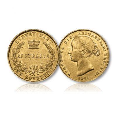 Queen Victoria Gold Sovereign Sydney Mint 1857-1870
