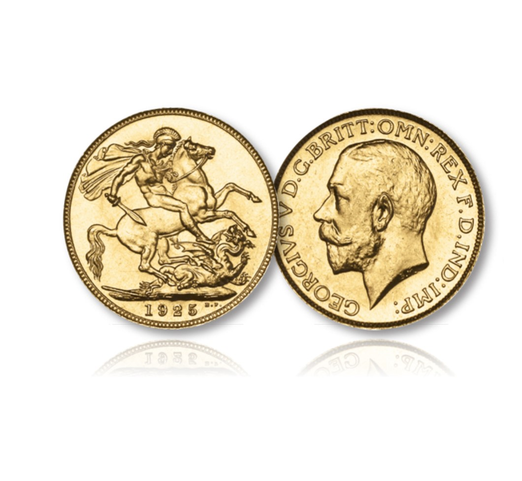 King George V Gold Sovereign of the London Mint of 1925