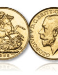 King George V Gold Sovereign London Mint of 1925