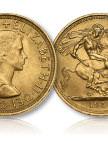 The Queen Elizabeth II Gold Sovereign of 1957