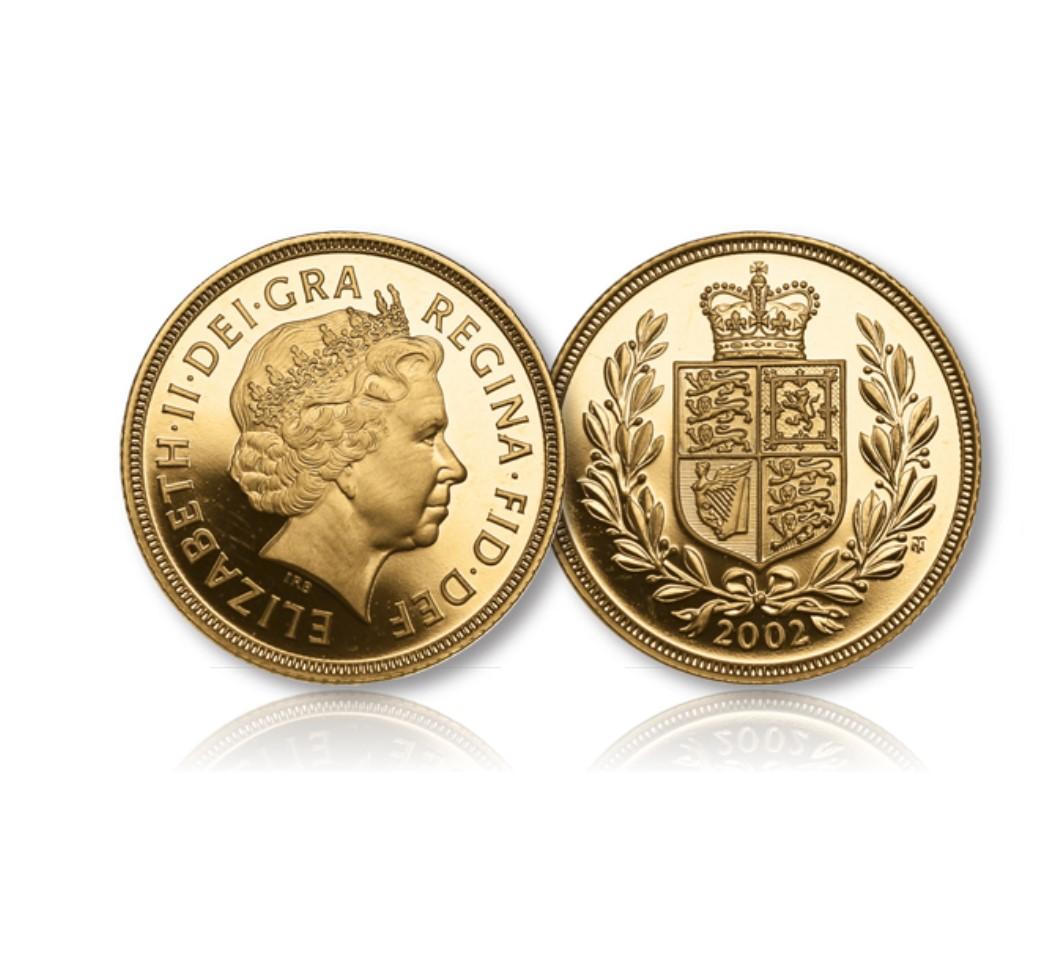 Queen Elizabeth II Gold Sovereign Proof of 2002