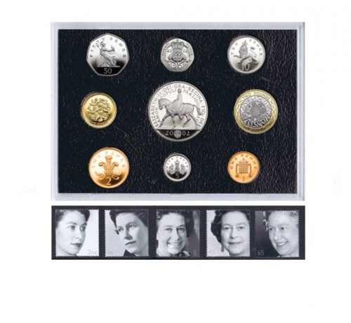 TheQEII 2002 Golden Jubilee Coin and Stamp Set