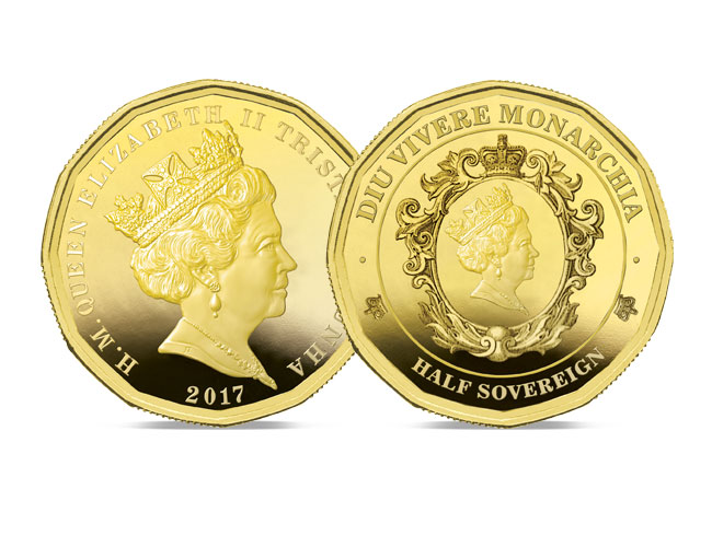 The 2017 Twelve-sided Gold Half Sovereign
