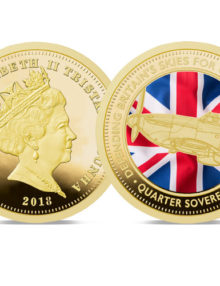 2018 Defence of Our Skies Colour Quarter Sovereign