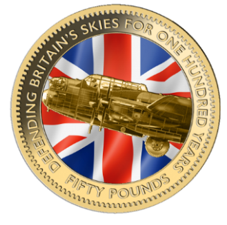 The 2018 Defence of Our Skies £50 Sovereign
