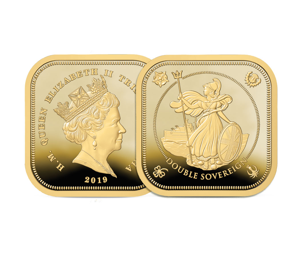 The 2019 Britannia Four Sided Double Sovereign Image
