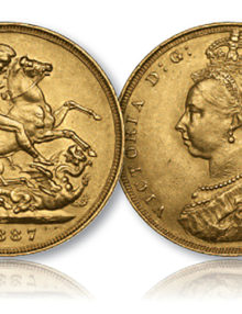 Queen Victoria Jubilee Portrait Gold Sovereign of 1887