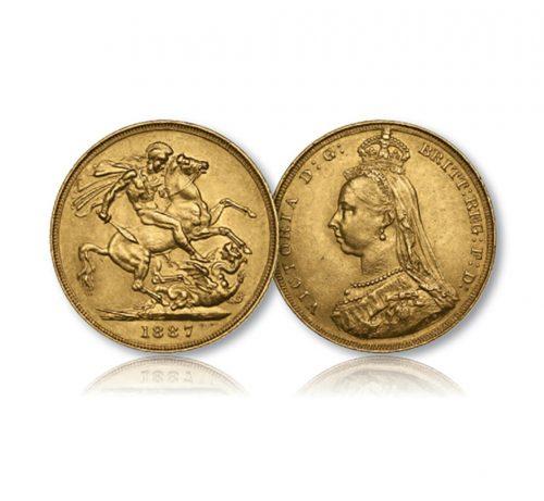 Queen Victoria Jubilee Portrait Gold Sovereign of 1887