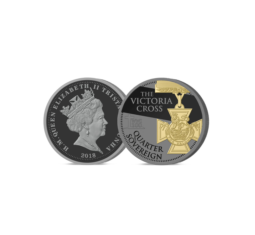 The 2018 Armistice Centenary Remembrance Gold Gallantry Quarter Sovereign