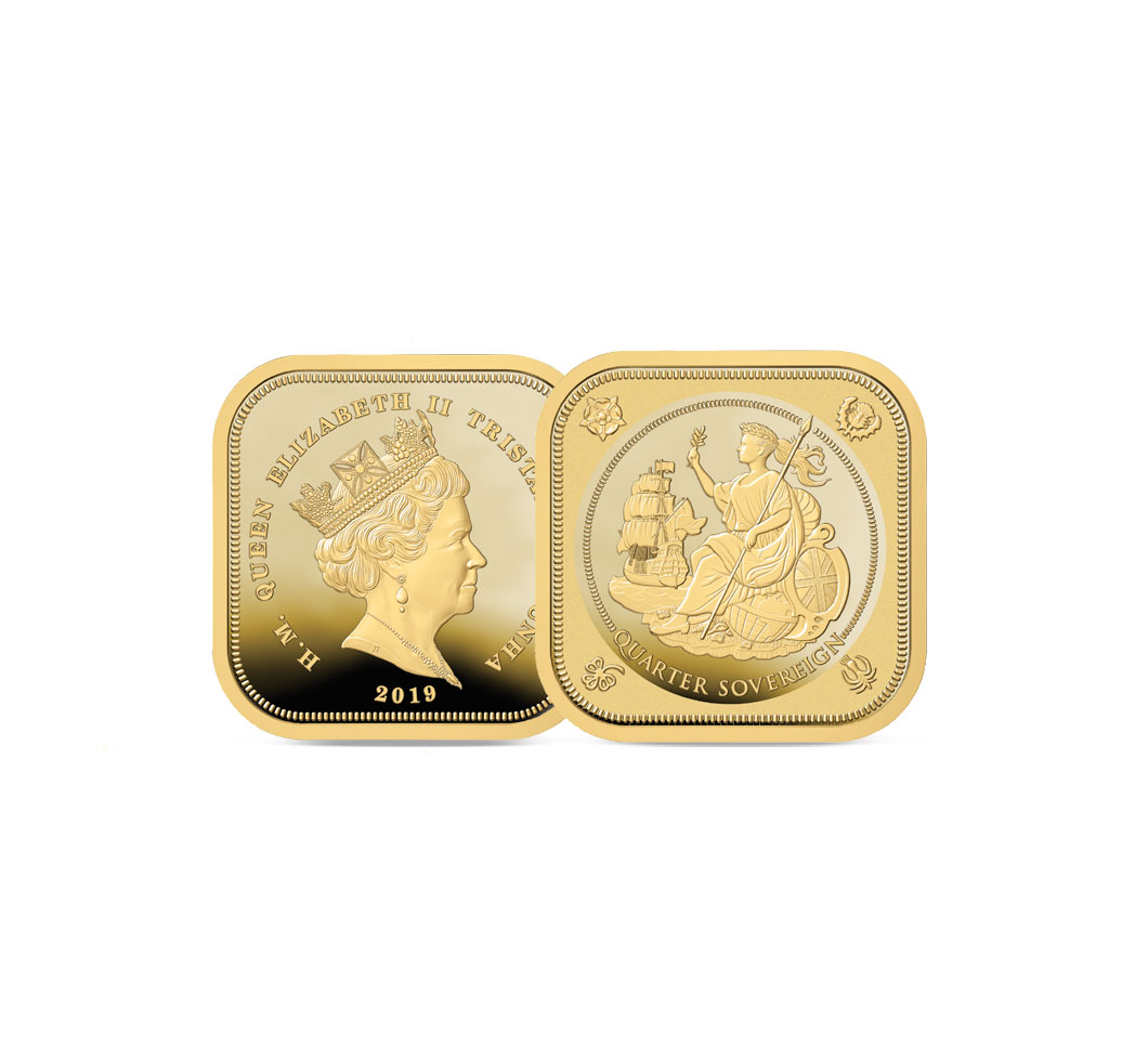 The 2019 Britannia Four Sided Quarter Sovereign