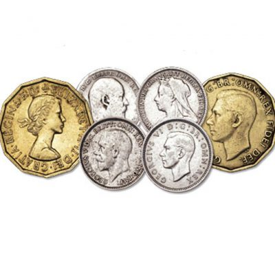 The Monarchs of the House of Windsor Threepence Set