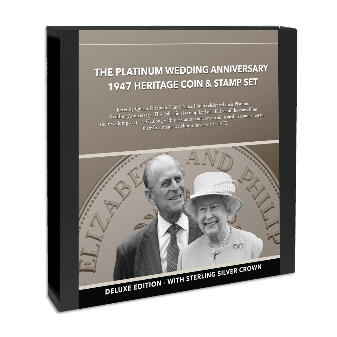 The Platinum Wedding Anniversary 1947 Heritage Coin and Stamp Set