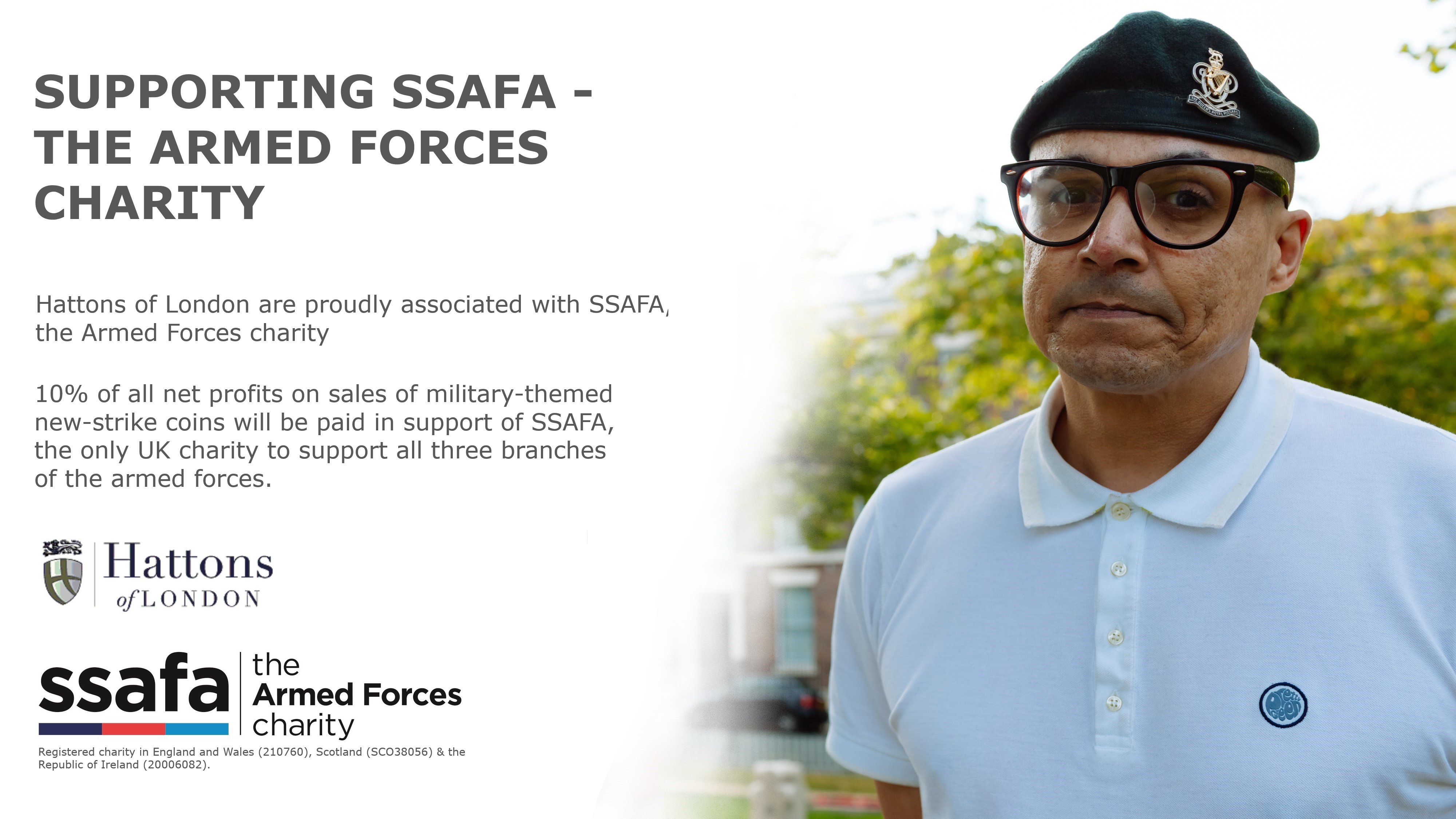 Hattons of London supporting SSAFA the Armed Forces charity