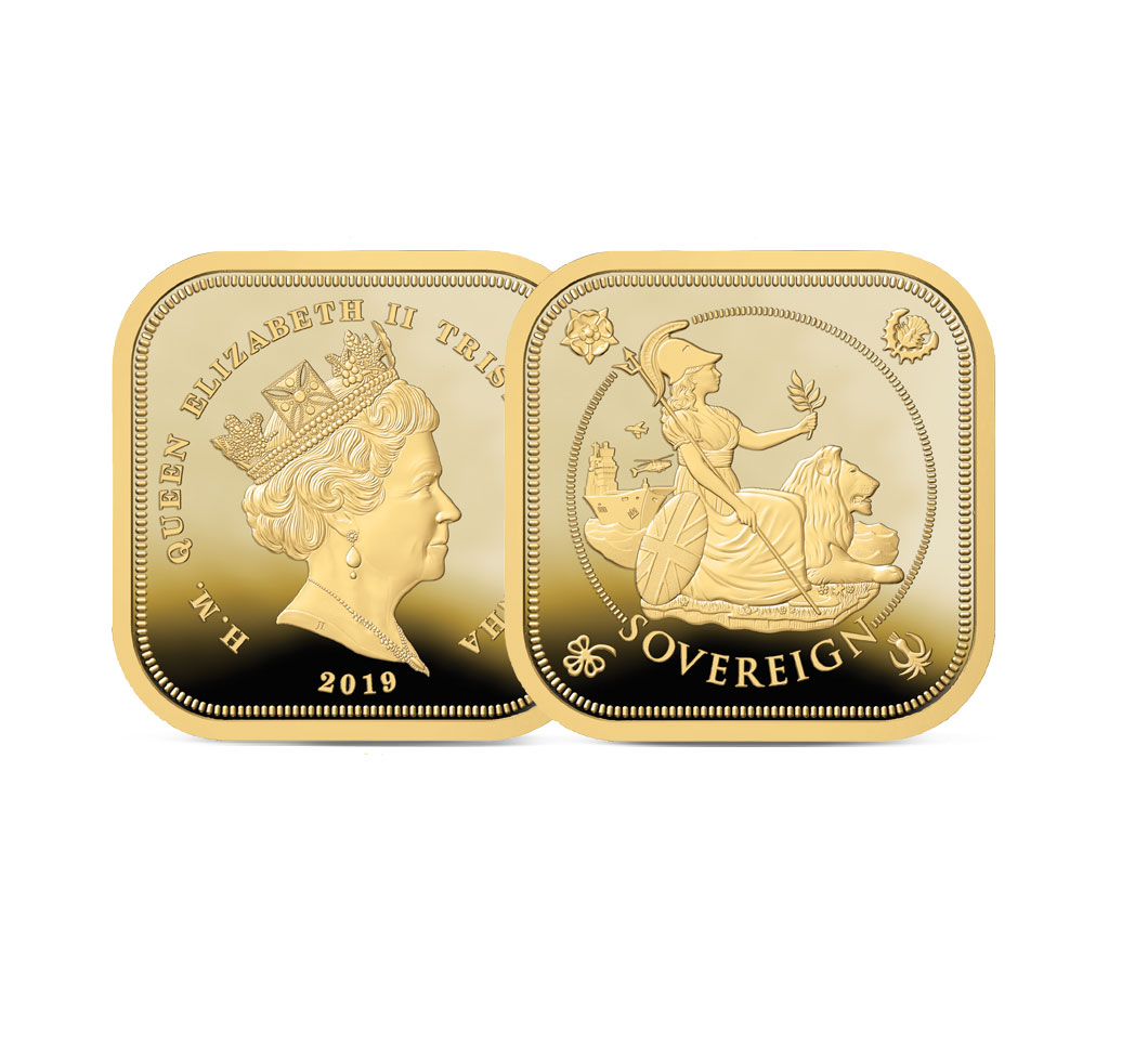 The 2019 Four Sided Gold Proof Sovereign Image