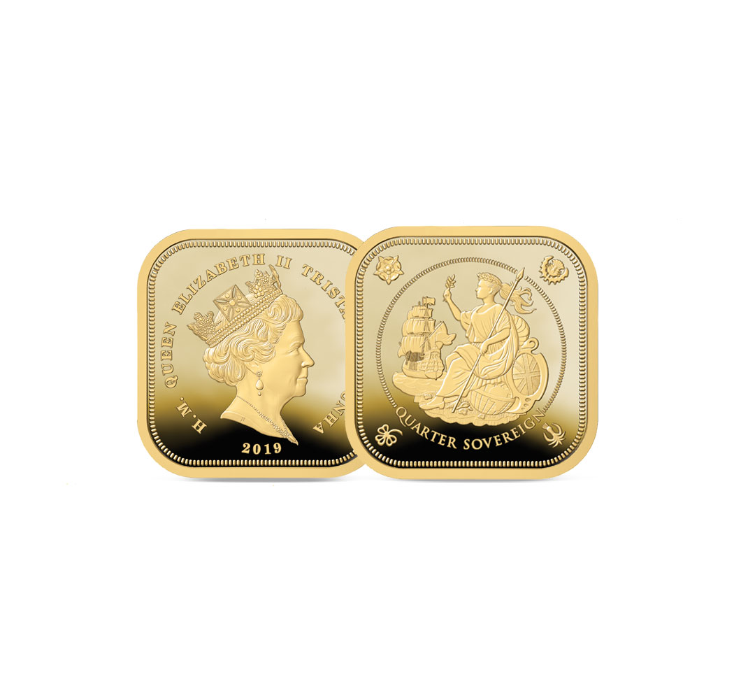 The 2019 Britannia Four Sided Gold Proof Quarter Sovereign