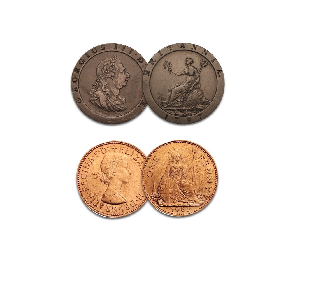 First and Last Britannia Pennies Heritage Coin Set