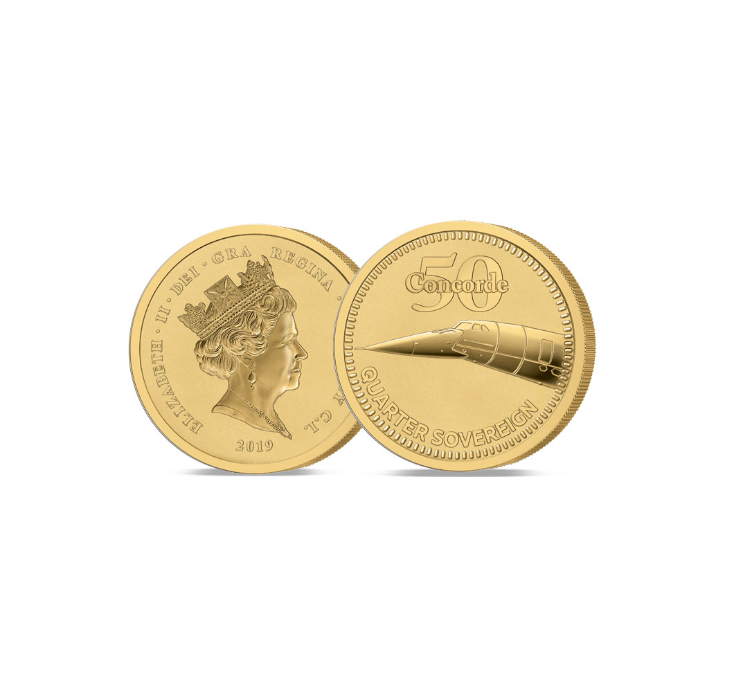 Image of 2019 Concorde 50th Anniversary Gold Quarter Sovereign