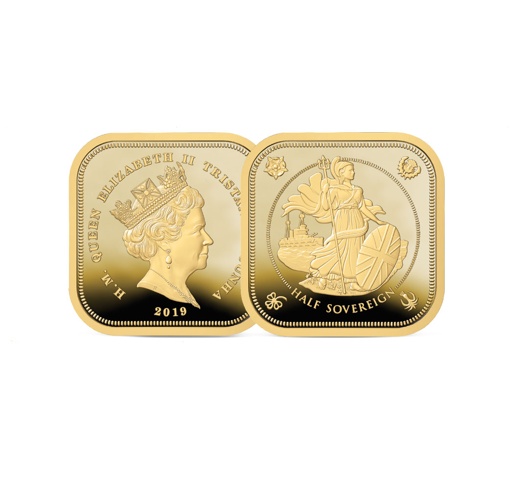 The 2019 Four Sided Gold Half Sovereign Image