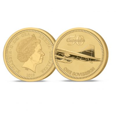 The 2019 Concorde 50th Anniversary Gold Sovereign