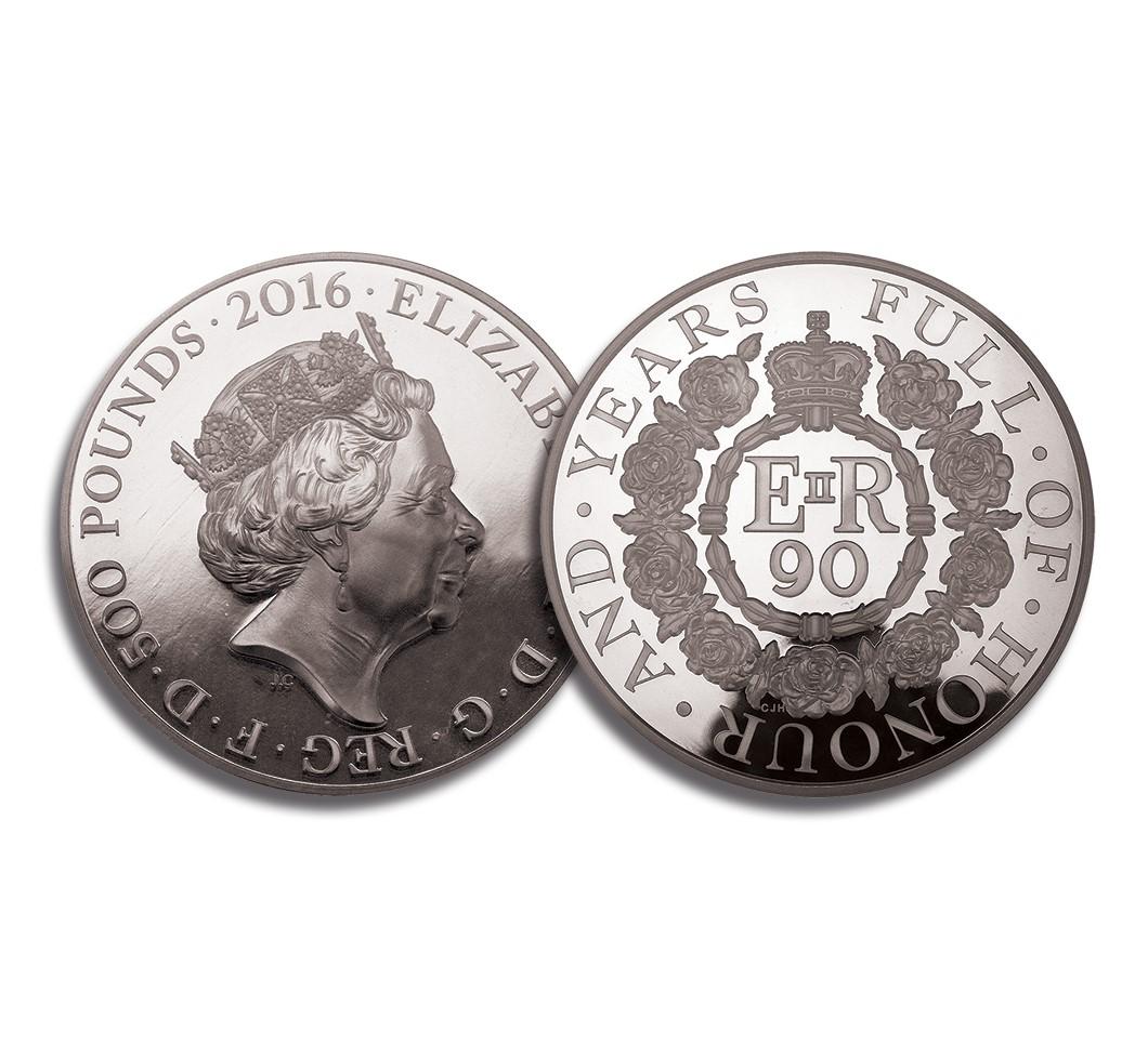 Image of Queen Elizabeth II 2016 Silver £500 Kilo Proof Coin