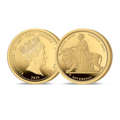 Image of The 2019 Queen Victoria 200th Anniversary 24 Carat Gold Sovereign