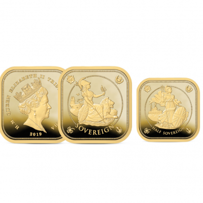 Image of the 2019 Four-Sided Half and Full Sovereign Set