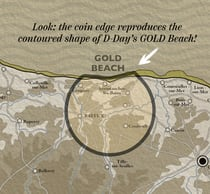 Heroes of Gold Beach contoured edge map