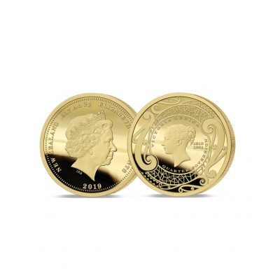 Image of The 2019 New Zealand's First Ever Gold Quarter Sovereign