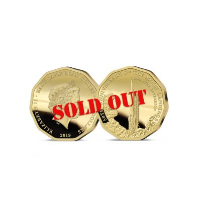 The 2019 Moon Landing 50th Anniversary Gold Quarter Sovereign