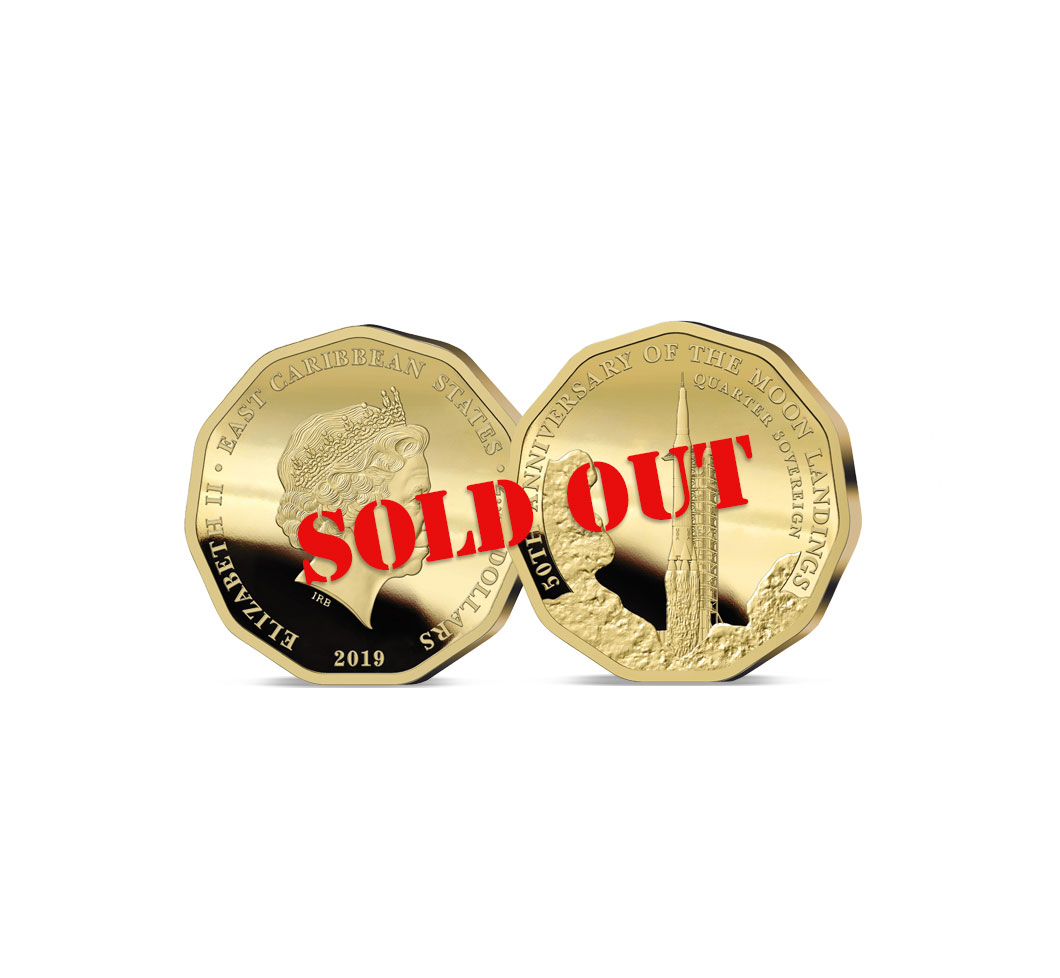 The 2019 Moon Landing 50th Anniversary Gold Quarter Sovereign