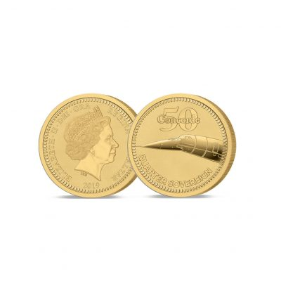 The 2019 Concorde 5th Anniversary Gold Quarter Sovereign