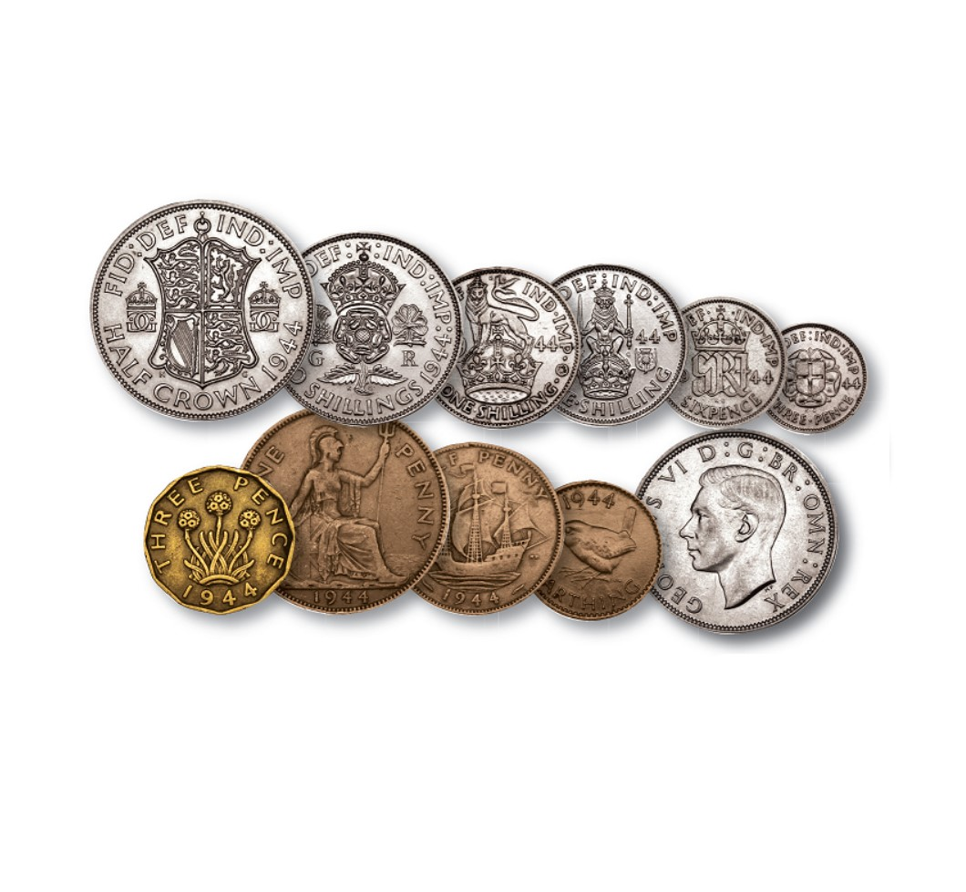 Image of King George VI 1944 D-Day British Coin Set