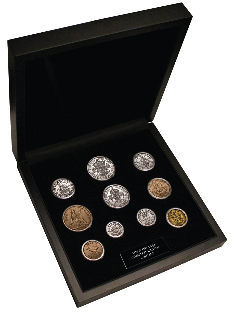 King George VI 1944 D-Day British Coin Set