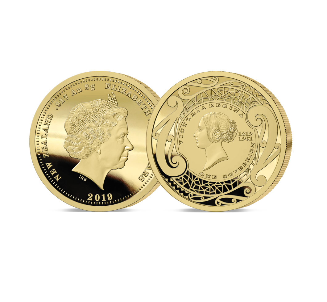 Image of The 2019 New Zealand's First Ever Gold Sovereign