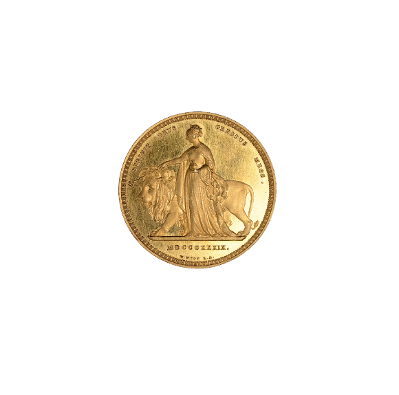 Una and the Lion Coin Image