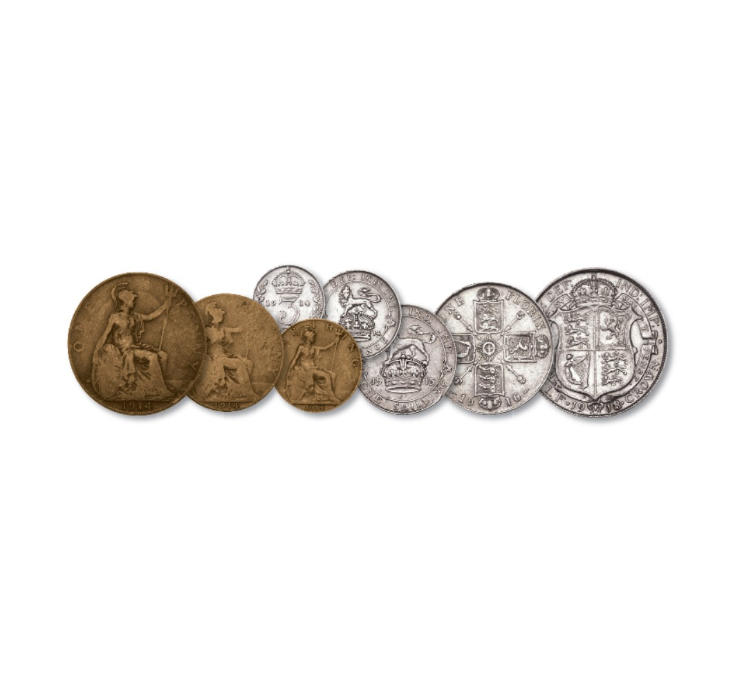 Image of Britains World War One 8 Coin Set