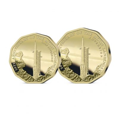 The 2019 Moon Landing 50th Anniversary Half and Full Sovereign Set