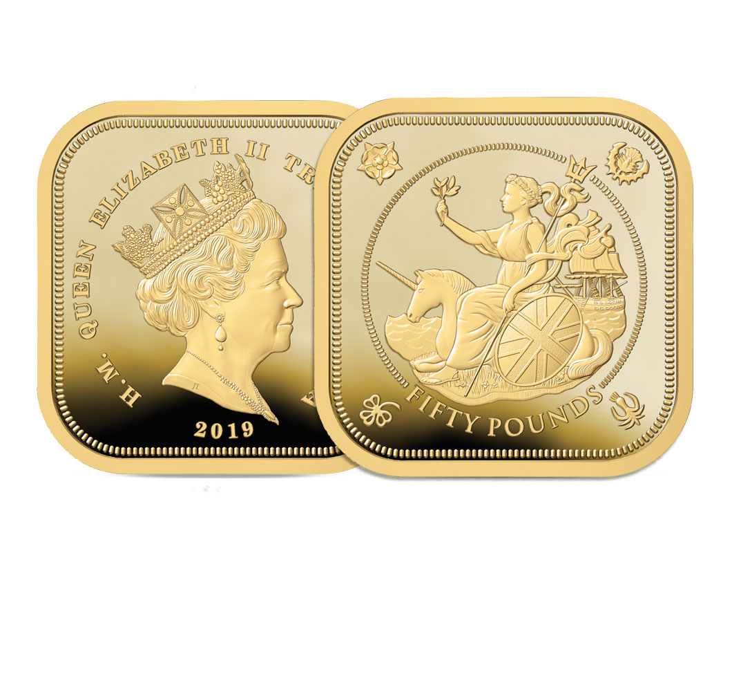 The 2019 Four Sided £50 Sovereign