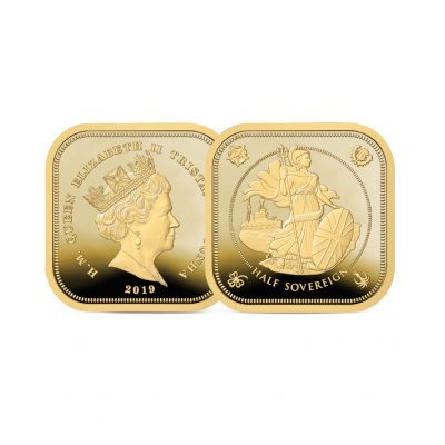 The 2019 Four-sided Gold Proof Half Sovereign