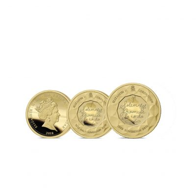 The 2018 Sapphire Coronation Jubilee Gold Half and Full Sovereign Set