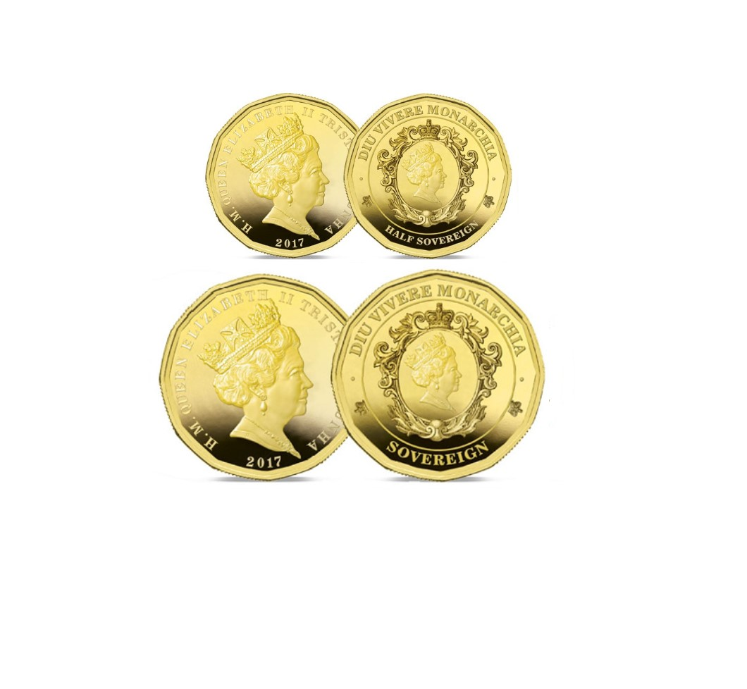 The 2017 Twelve-Sided Gold Half and Full Sovereign Set