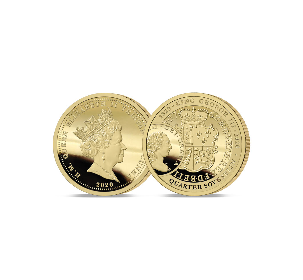 The 2020 George III 200th Anniversary Gold Quarter Sovereign