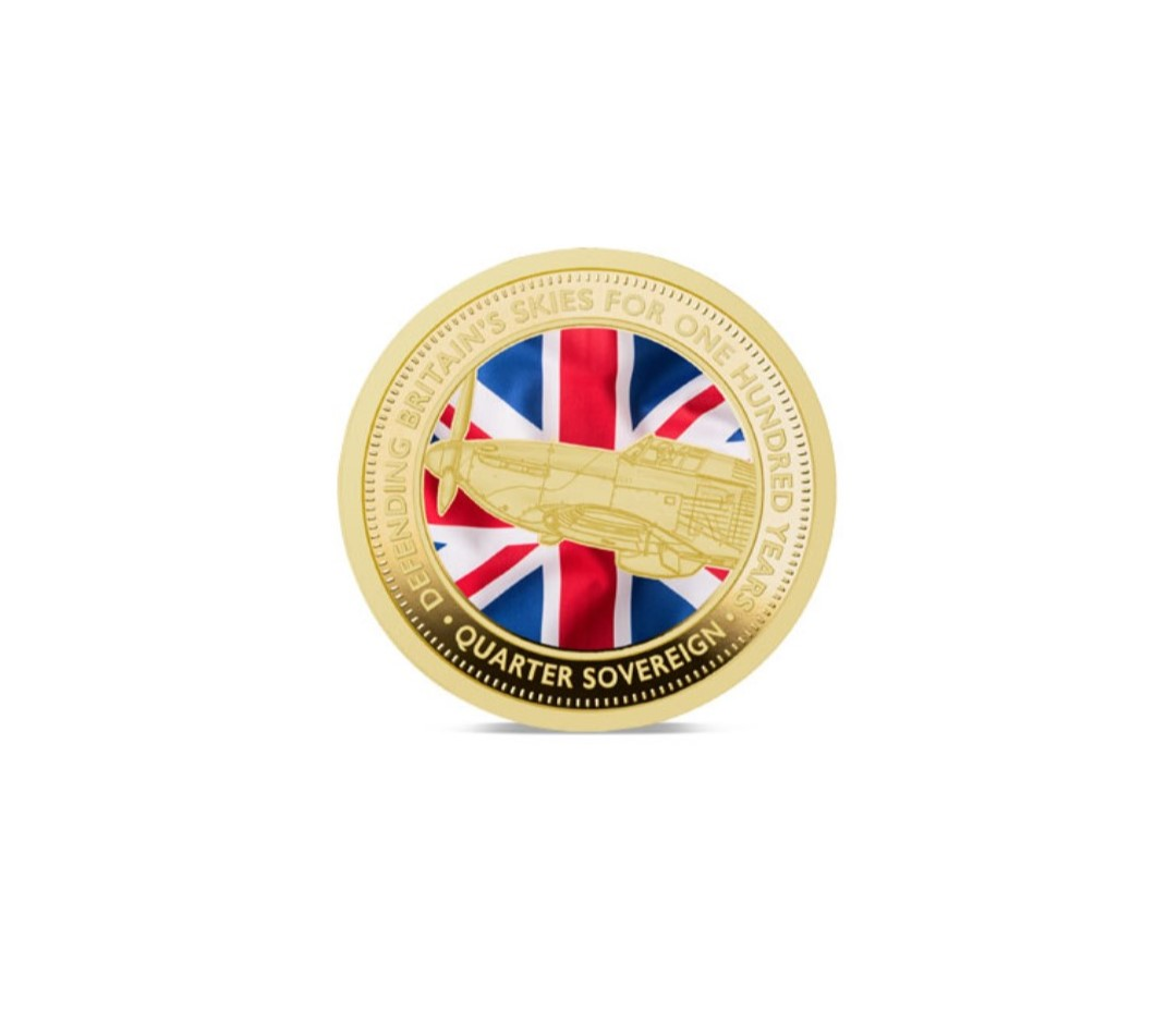 The 2018 Defence of Our Skies Colour Quarter Sovereign