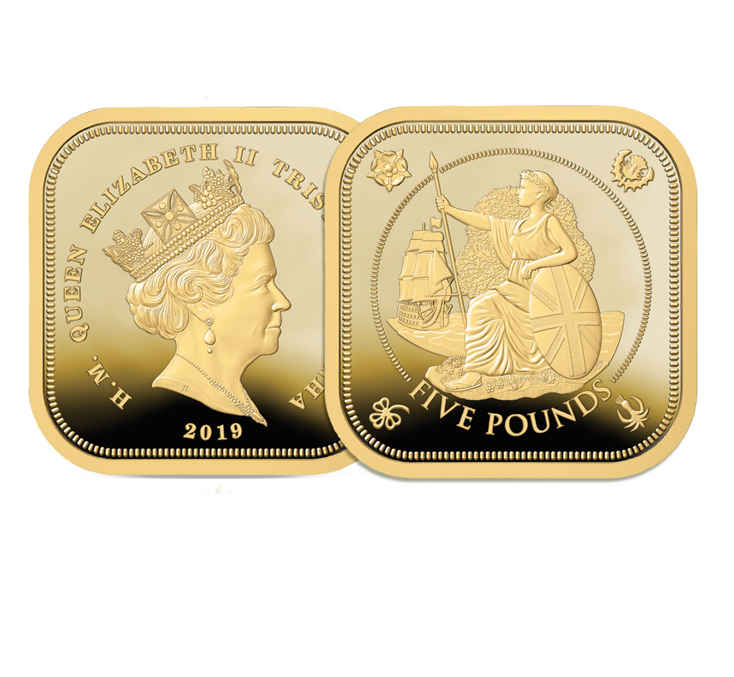 The 2019 Four Sided Gold Five Pound Sovereign