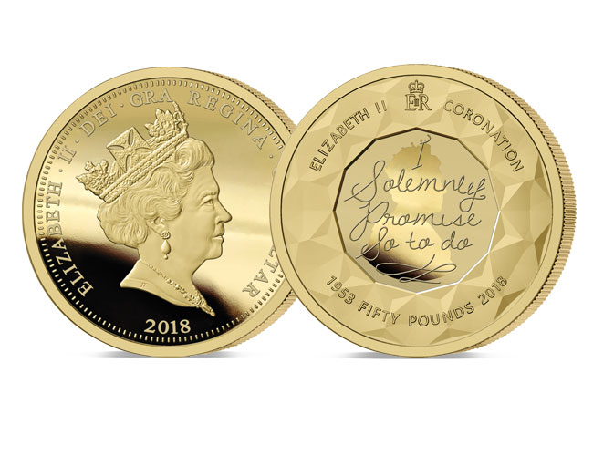 The 2018 Sapphire Jubilee£50 Gold Sovereign